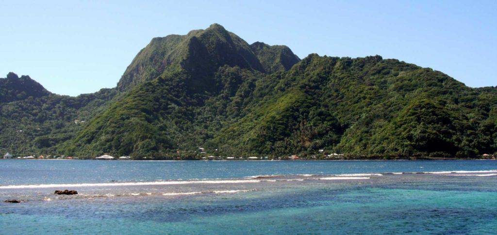 Rainmaker mountain and entrance to Paqo Pago Harbor