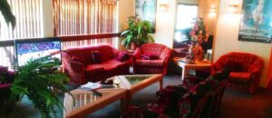 The Lounge at Evilani's Hotel